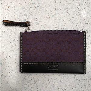 AUTH COACH key card holder- purple